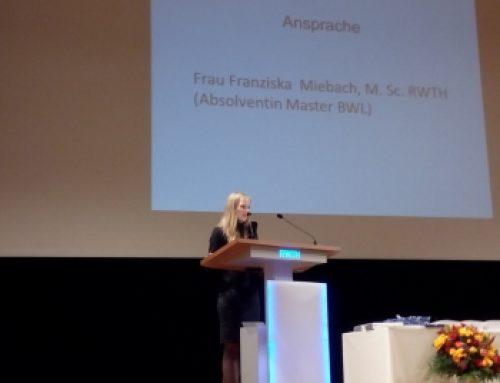 Famous Colleagues: Franziska Miebach Giving Graduate Students Address