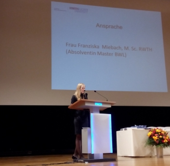 Famous Colleagues: Franziska Miebach Giving Graduate Students Address